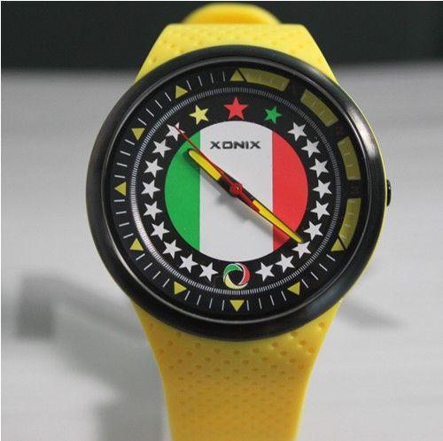 Hot selling Xonix 2014 world cup Italy Spain Brazil Argentina national team commemorative watch waterproof sport Wristwatches $28.00