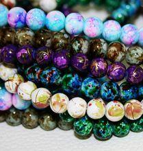 2015 New Arrival 8 MM 100 pçs/lote Bead rodada Assorted coloridos contas de vidro para mulheres pulseira fazendo atacado ou varejo ( BBD016 )(China (Mainland))