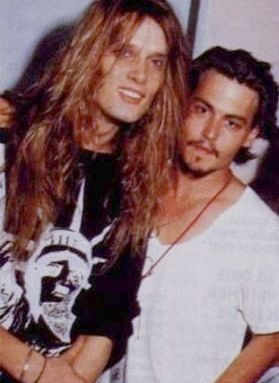 Johnny and Sebastian Bach - johnny-depp Photo