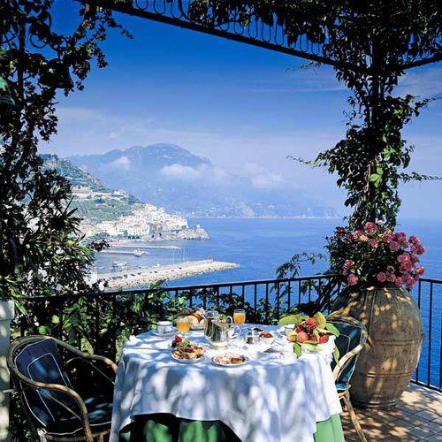 Just a simple breakfast overlooking the Mediteranean