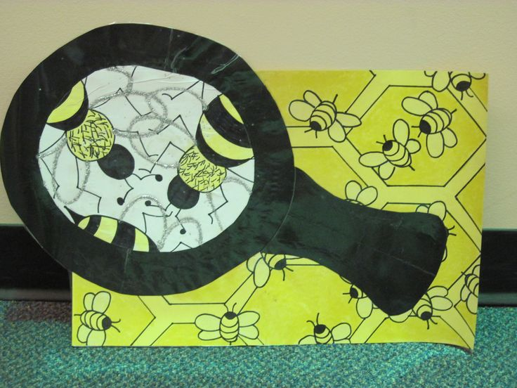 Magnified Bees-Elementary art project