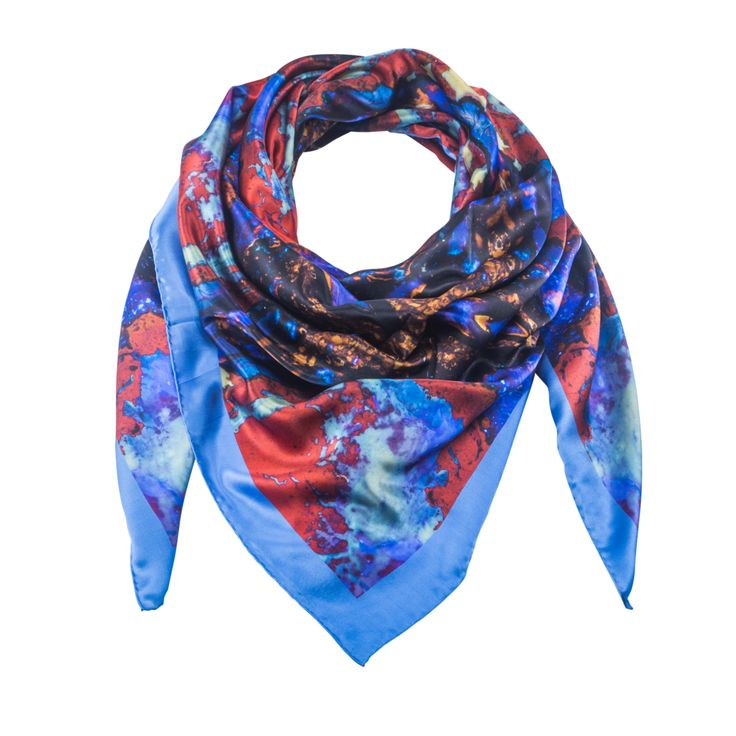 Vela 1 - Silk Scarf - Celestial Collections – Silk and Stone