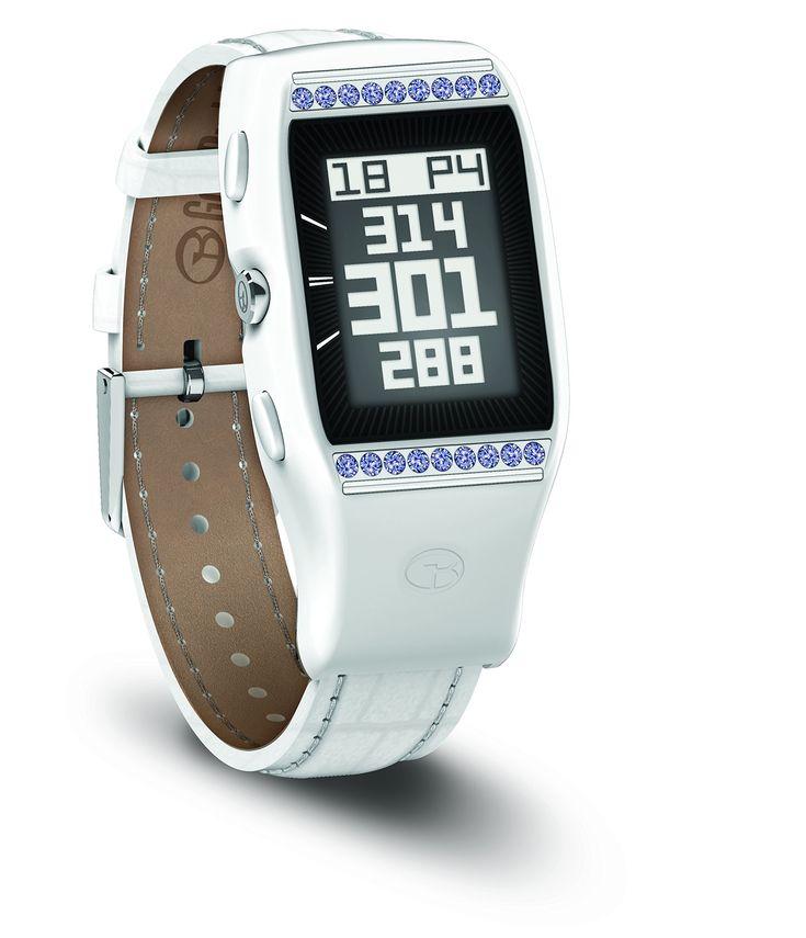Golfbuddy Womens Ld Golf Gps Watch With Swarovski Crystals Small White