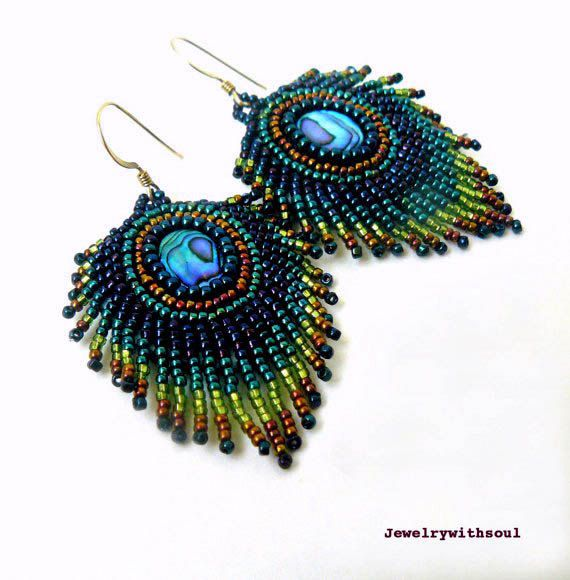 Images about bead embroidery on pinterest earrings
