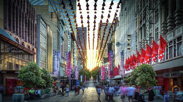 Bourke Street Mall Christmas Decorations Christmas Wall Decor Christmas Decorations Melbourne