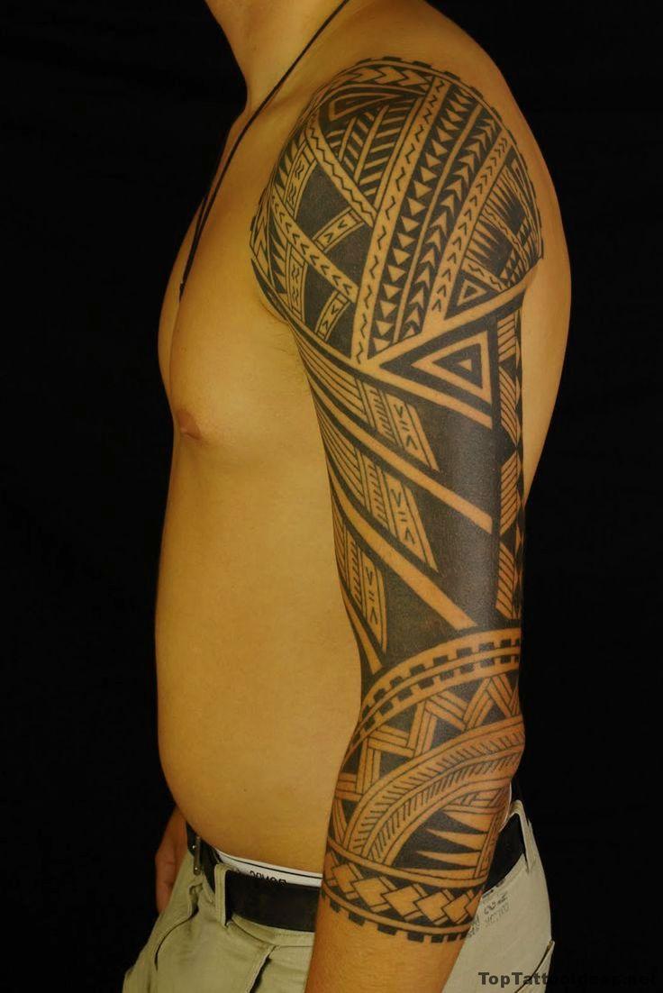 Polynesian Tribal Arm Tattoo Idea