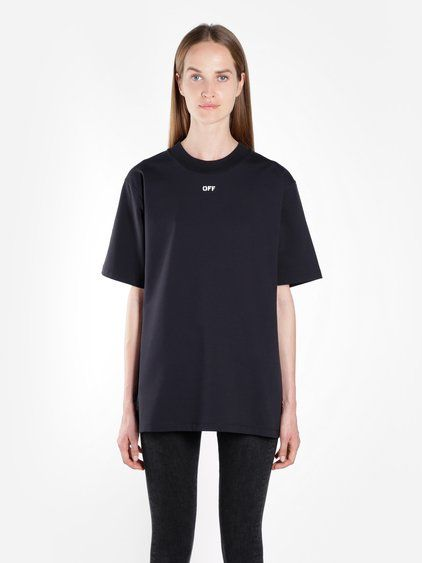 OFF-WHITE C O VIRGIL ABLOH OFF WHITE C O VIRGIL ABLOH WOMEN S BLACK FLOWER  SHOP OVERSIZE TEE.  off-whitec ovirgilabloh  cloth   0e3ffbf3fa