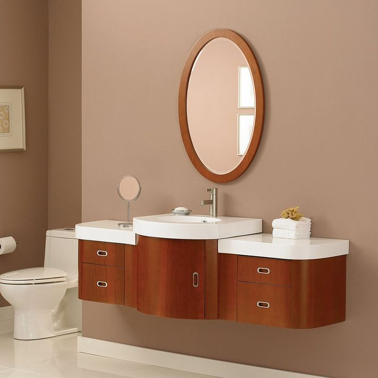 Art Exhibition American Imagination AI Vee in Modular Bathroom Vanity with Ceramic Top