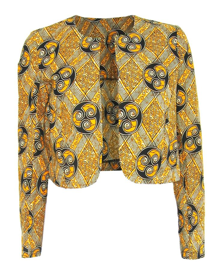 Fair + True -Fair Trade African Print Round Neck Jacket