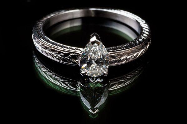 monture bague diamant poire