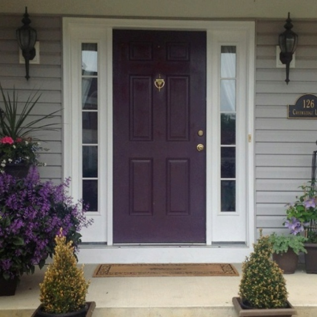 LOVE the purple front door