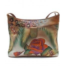 Surprinde-o cu o geanta Ianna din piele naturala, Anuschka, un cadou original si exotic pentru femeia scorpion careia ii place sa se diferentieze.