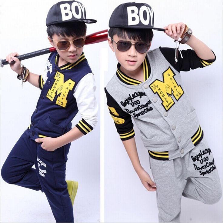 Neue Babys baseball basketball bekleidung set kinder frühjahr herbst oberbekleidung sportlichen tuch hip-hop-mode kinder mantel(China (Mainland))