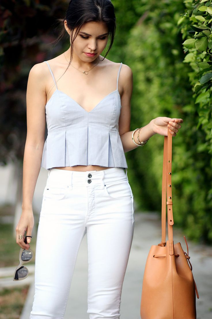 Inspired White High Waisted Jeans
