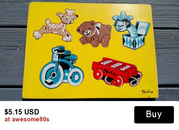 1960s SIFO retro wood puzzle - ready for play or display