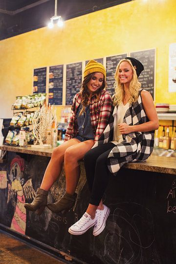 Photo from Single Thread Boutique - Back To Campus 2015 collection by Single Thread Boutique #plaid #beanie #converse #singlethreadbtq #shopstb #boutique