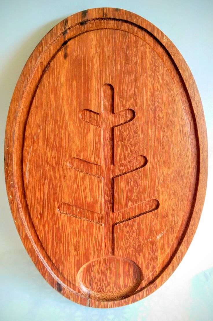 Vintage Oval Wood Meat Carving Cutting Board Midcentury by RetroFairy on Etsy