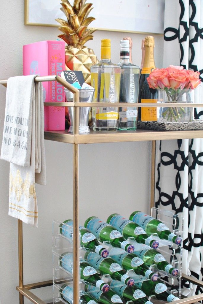 Bar Cart Styling | Chronicles of Frivolity