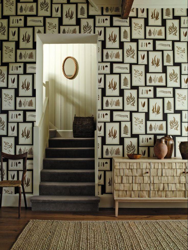 Beautiful Fern Gallery wallpaper design from the new Sanderson Woodland  Walk collection  Hallway WallpaperWallpaper DecorHome. Best 25  Botanical wallpaper ideas on Pinterest   Leaves wallpaper