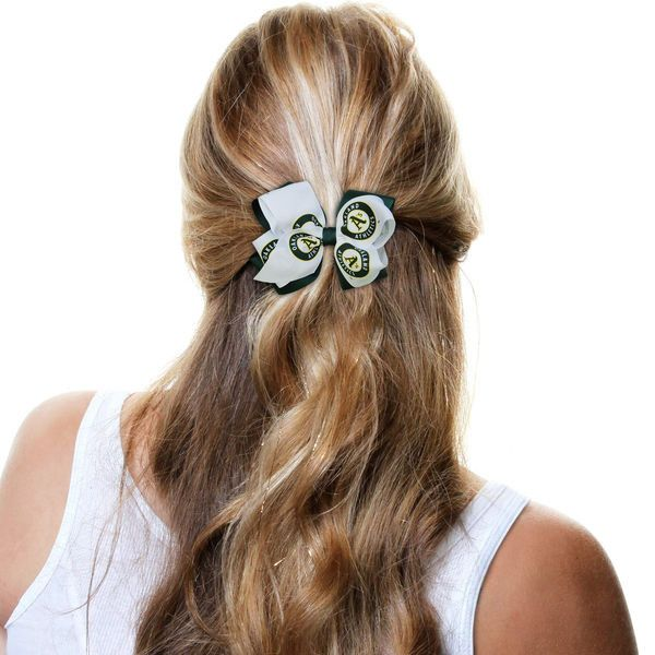 Oakland Athletics Women's Double Bow - White/Green