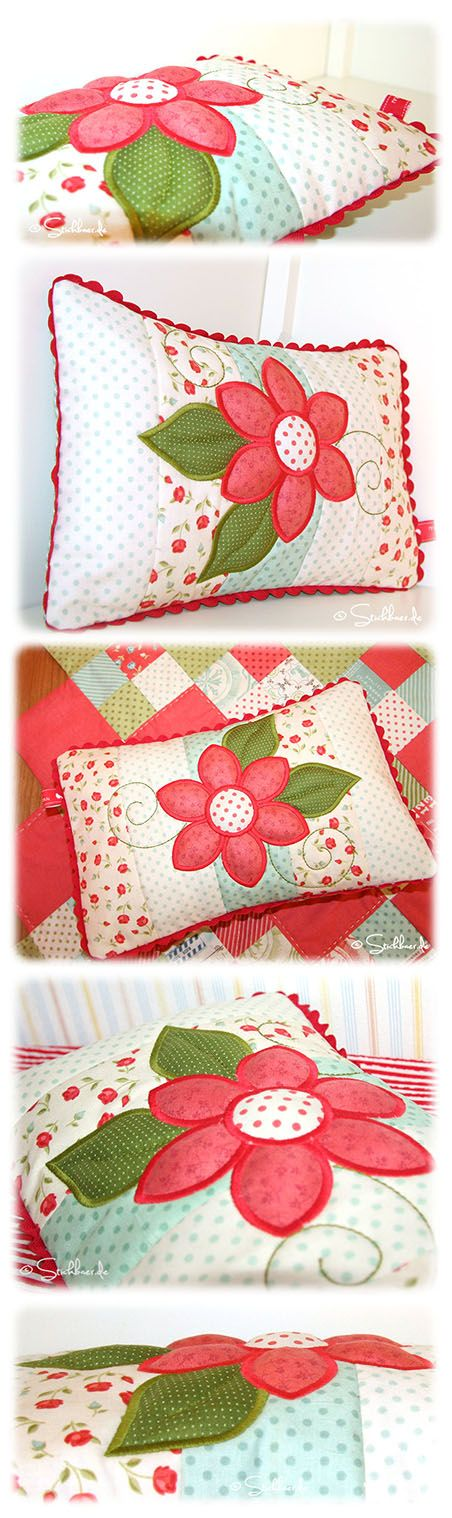 Der Stickbär | Designbeispiel: Flower-Patchwork-Pillow