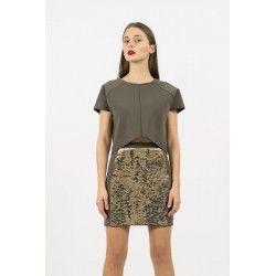 Khaki top #minimalism #military