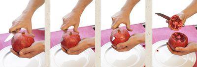 Granatäpfel öffnen