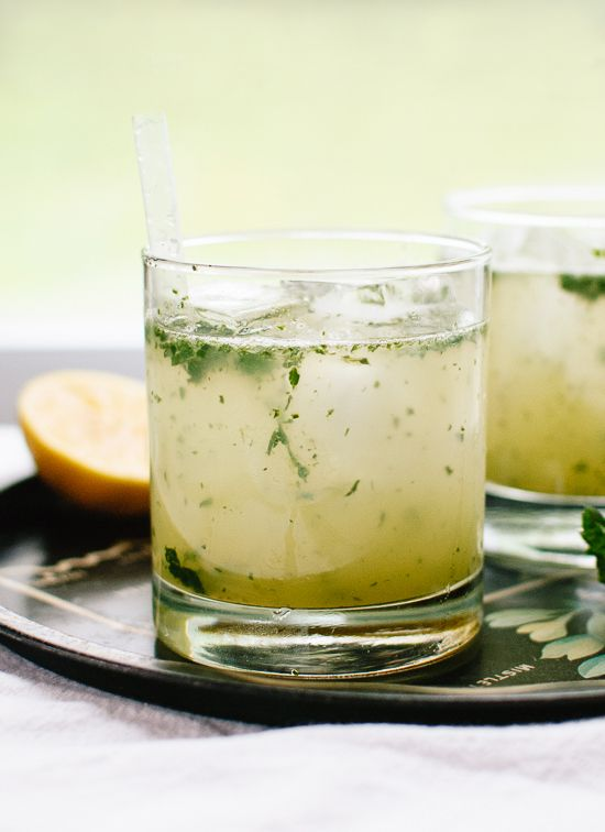A refreshing cocktail made with naturally sweetened lemonade blended with mint, plus vodka or gin and club soda. cookieandkate.com