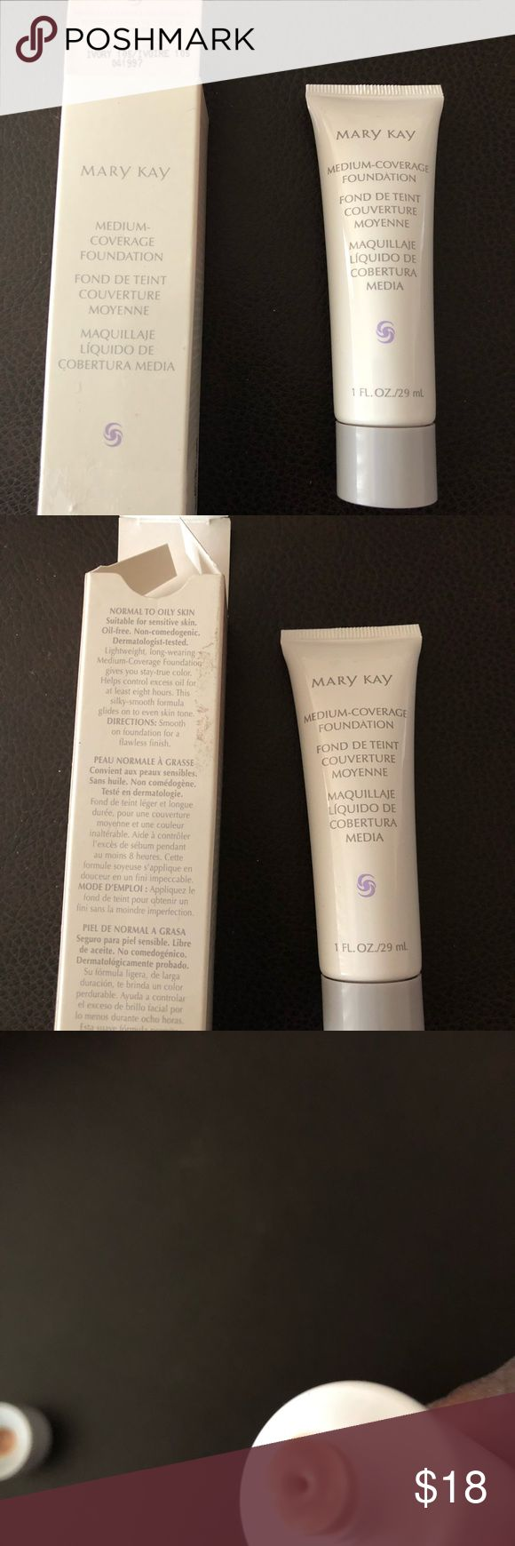 Mary Kay medium coverage foundation (Ivory 105) Wonderful 8 hour oil control foundation only need to apply once. Mary Kay Makeup Foundation