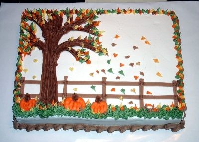 fall theme cake By tmassey5 on CakeCentral.com