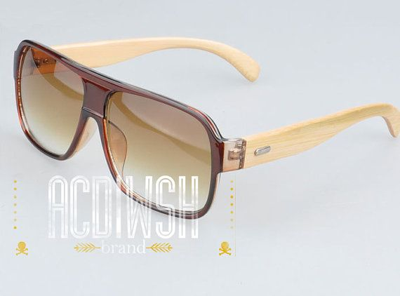Wooden Sunglasses  Transparent frame and Wood Sunglasses by acdwsh, $27.65