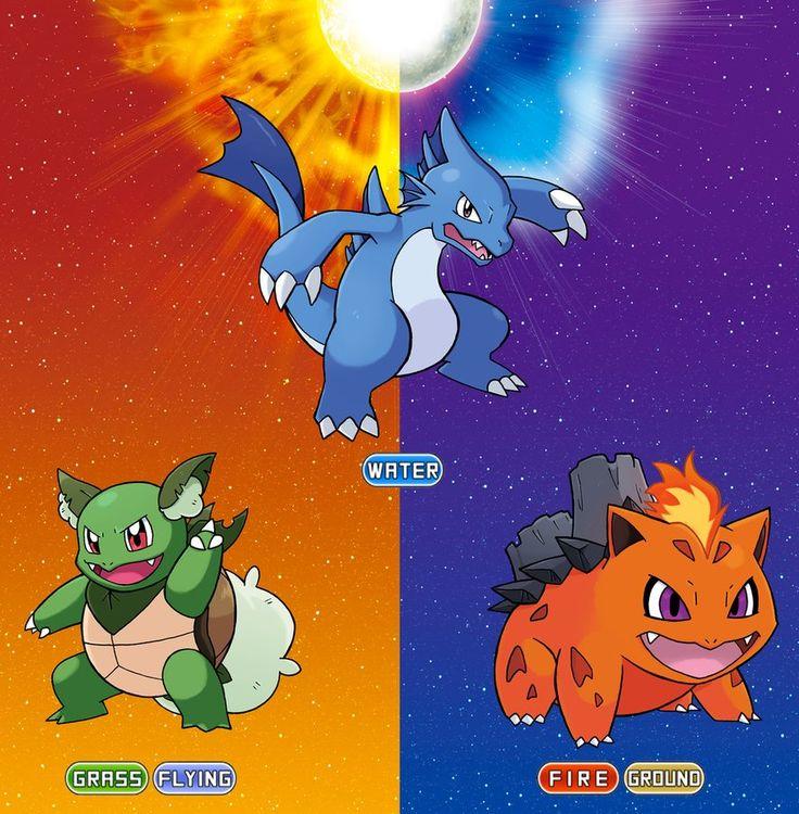 Alolan Kanto starters Evolutions by SonicKnight007