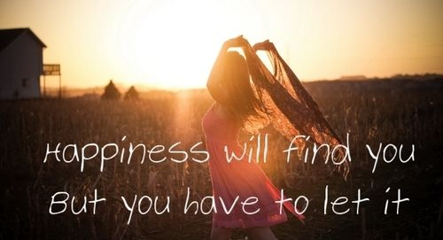 Happiness Will Find You Quotes Girl Outdoors Sun Happy