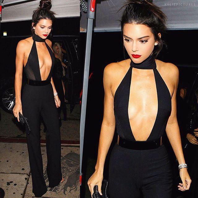 Kendall Jenner plunging neckline