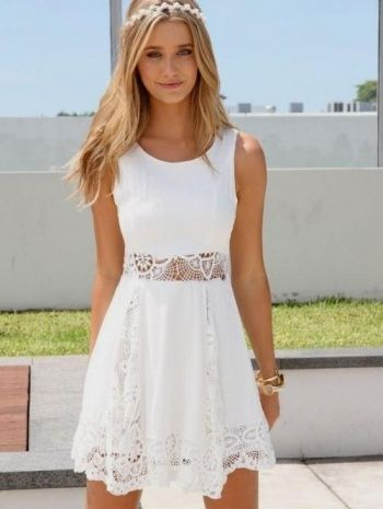 White Summer Dresses For Juniors