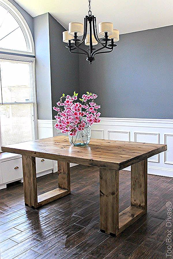 Diy Husky Modern Dining Table Diy Furniture Homedecor
