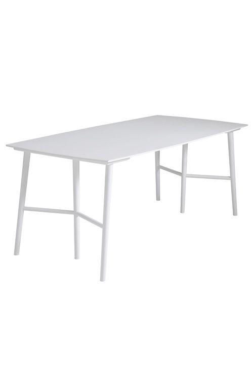 """Skap ditt eget bord ved å først kjøpe bokkeben som du deretter kan matche med bordplaten Perstorp fra Ellos, eller en bordplate du velger selv. Bokkebena er i trebensmodell med understell til å feste bordplaten på samt forborrede hull. Av lakkert massiv bjørk. Str på platene 80x21,5 cm. Høyde 73 cm. Lev. montert.<br>Fraktvekt 61 kg. <br><br>Les om Fraktvekt under fliken """"Levering"""". <br><br>"""