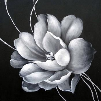 Magnolia Oil Paintings   VIG Furniture - Magnolia Oil Painting on Canvas in Black and White