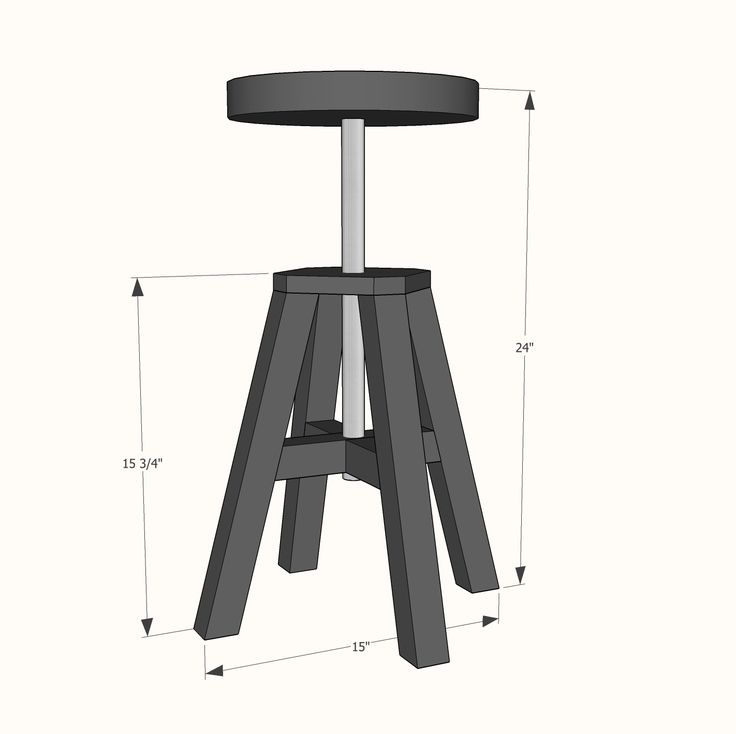 Ana White   Build a Adjustable Height Wood and Metal Stool   Free and Easy DIY Project and Furniture Plans