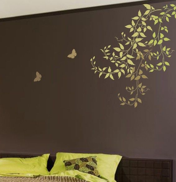 Best 20 wall stenciling ideas on pinterest painting - Wall painting stencils for living room ...
