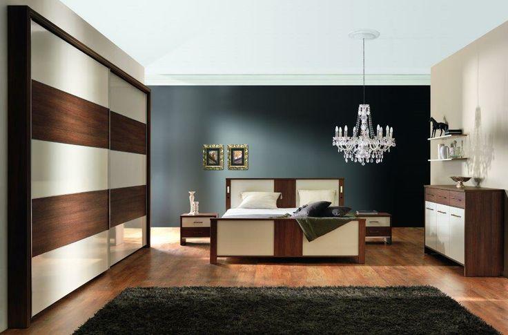 Waniliowo-czekoladowa sypialnia Ravenna z oferty New Elegance / Chocolate-vanilla Ravenna bedroom from New Elegance