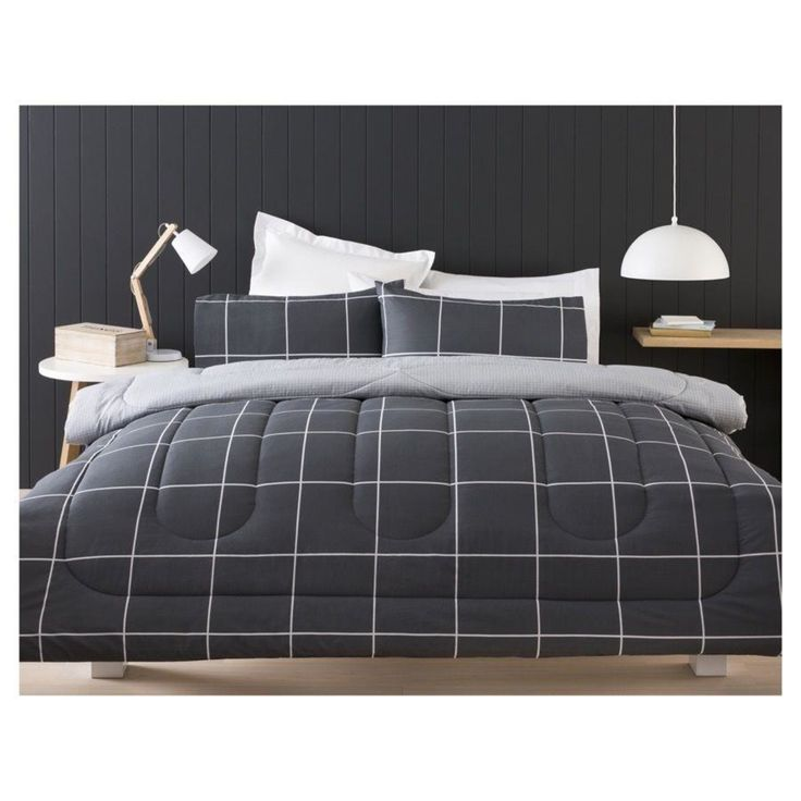 Graphite Comforter Set - Double Bed | Kmart