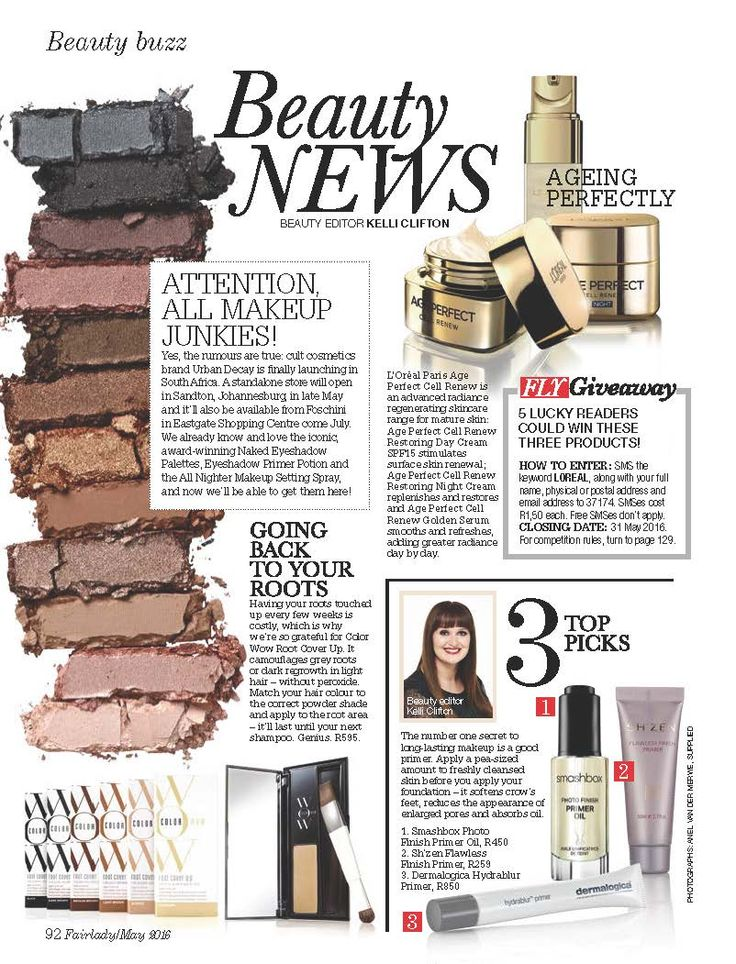 Spotted in the May issue of Fairlady!!! Our devine Flawless Finish Primer...