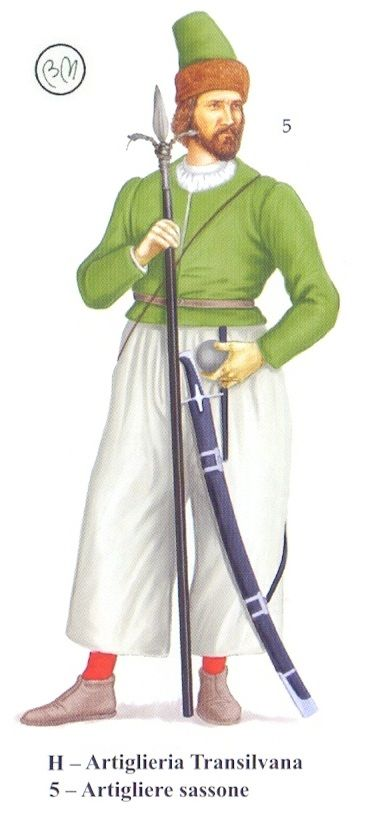 Saxon artilleryman, Long Turkish War (1593-1606)