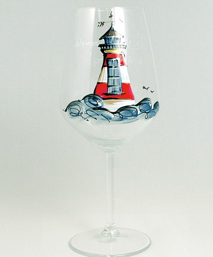 Coupe (490 ml) : : Phare  *** Produit peint à la main.