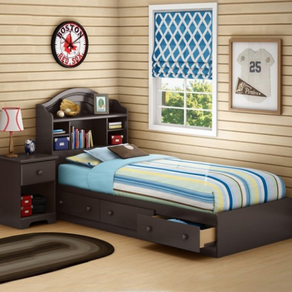 Bookcase And Storage Beds