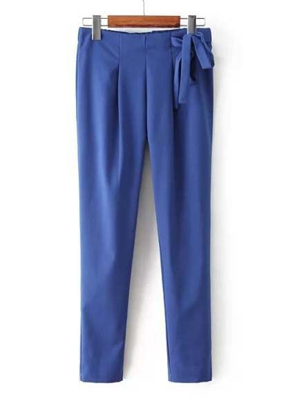 Pants for women fashion with belt design bottoms CY-K923L9