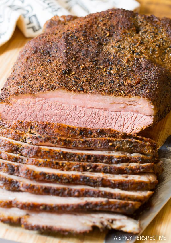 Texas Style Oven Brisket Recipe. A simple smokey brisket recipe that can be made in the oven, instead of on a smoker. The dry rub recipe is spread over the