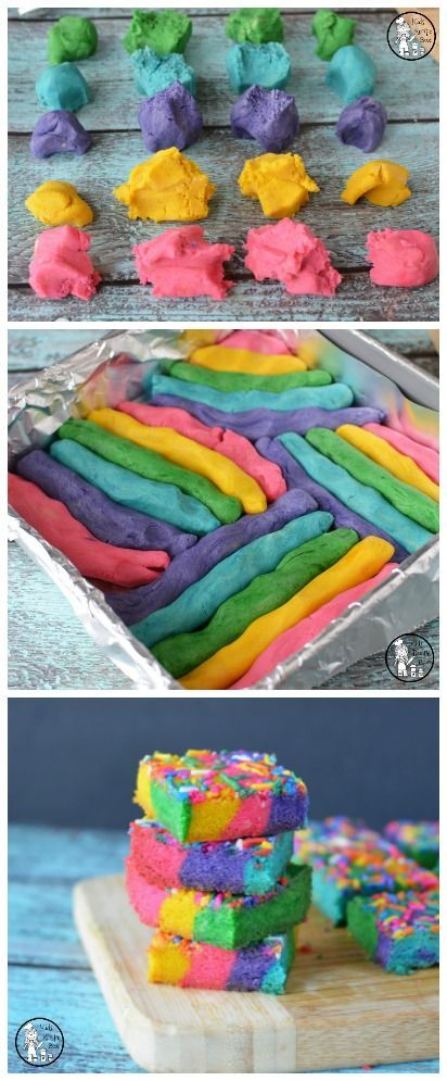 Rainbow Cookie Bars Recipe for kids