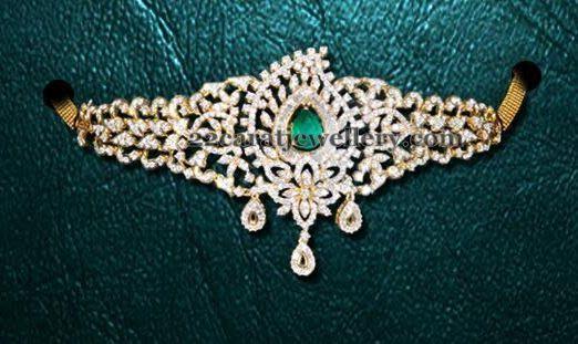 Jewellery Designs: Diamond Choker cum Armband